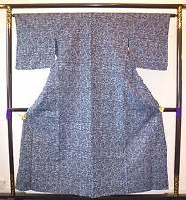 VINTAGE AUTENTICO Blu Kimono giapponese per le donne, il Giappone Importazione (g775)