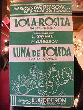 Partition Lola Rosita Grival Gregson Luna de Toleda  Music Sheet 1959