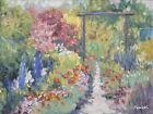 Sean Wu original oil painting 12x16 on hardboard, garden
