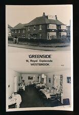 Kent WESTBROOK 14 Royal Esplanade Greenside Advert 1971 RP PPC