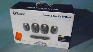 Swann 4K 4Ch 1TB HDD DVR W/ Four 4K Sensor Warning Light Cameras SWDVK-455804WL