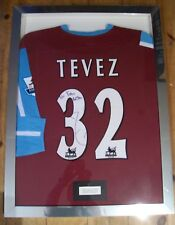 Carlos Tevez Rare Match Worn Signed West Ham Framed Shirt 2006/07 AFTAL/UACC RD