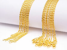 5PCS 30inch Jewelry 18K Yellow Gold Filled Chain Flat S GF Necklaces For Pendant