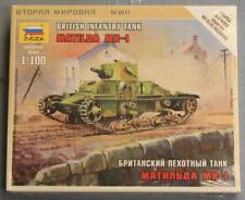 Zvezda 6191 British Infantry Tank Matilda Mk-I Kit Nos 1/100 Scale