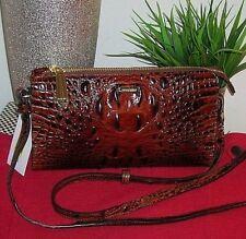 new Brahmin Sienna Melbourne Brown Leather Crossbody Bag Purse Shoulder Bag nwt