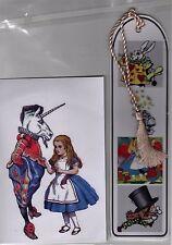 Alice au pays des merveilles Imprimé Photo & signet Set Idéal Noël Stocking Filler