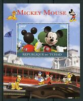 Chad 2016 MNH Mickey Mouse 1v M/S Disney Cartoons Stamps