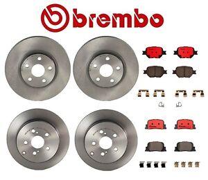 For Scion TC 2005-2010 Brembo Front and Rear Brake Kit Disc Rotors Ceramic Pads