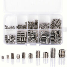 200x Stainless Steel Hex Socket Set Screw Grub Screws Assortment Kit M3-M8
