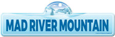 Mad River Mountain Street Sign | Snowboarder, Décor for Ski Lodge, Cabin, House