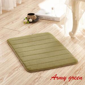 Home Bath Mats Non-slip Carpet Soft Coral Fleece Memory Foam Rug Mat Accessories