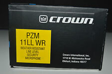 Crown Microphone PZM11LLWR  Weather Resistant *** NEW IN BOX***  Never used