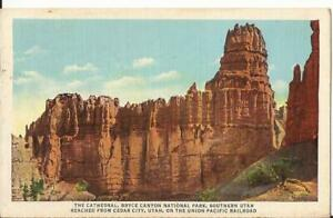 Bryce Canyon National Park The Cathedral Union Pacific Vintage Postcard UT C13