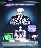 House Of Cards Alrededor Cabeza y Corona la Completo Zweite Mini Serie DVD Nuevo