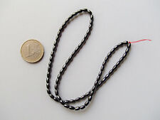 1filo/78pz  perline pietre ematite ovale 5x3mm  colore nero