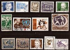 POLOGNE 14 timbres  neufs et oblitérés  avec anciens sujets divers  181T2