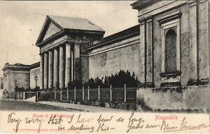 PC EGYPT, ALEXANDRIE, MUSÉE ET BIBLIOTHÉQUE, Vintage Postcard (b30912)