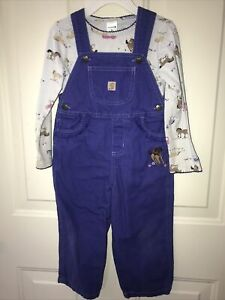 Carhartt girls overalls coveralls horses outfit toddler 3T