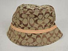 Coach Crusher Bucket Hat Monogram Signature Khaki Brown P/S NWT