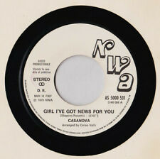 "Casanova / Gloria Gaynor ‎– Girl I've Got News For You / I Will Survive- 7"" IT"