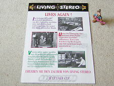 LIVING STEREO LIVES AGAIN 1994 KATALOG-FOLDER BMG RCA VICTOR