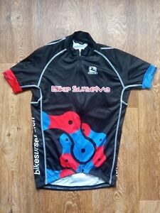 GIORDANA Cycling Shirt Jersey BIKE SURSELVA Hande-Made by Itali Size S