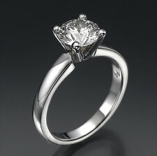 F 0.82CT ROUND CUT DIAMOND ENGAGEMENT SOLITAIRE GOLD RING