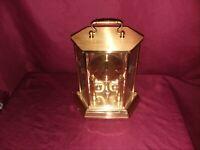 Kieninger Obergfell Kundo West German Brass Mantle Clock Vintage
