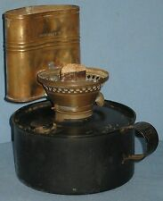 ANTIQUE TIN & BRASS LAMP BOILER for HEAT & HEALTH L R OAKES PAT.1903