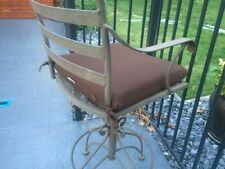 NEW! $180 Set of 4 SUNBRELLA Cocoa Brown OUTDOOR Chair Cushions w Ties