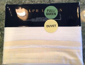 Ralph Lauren Bowery Full/Queen Duvet Cover 100% PIMA $400 Hollywood Cream NWT
