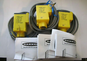 3 X BANNER Q45BB6LL - 69137 RETROREFLECTIVE SENSORS   NEW UNUSED