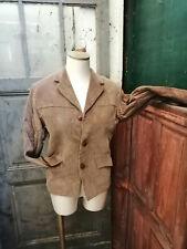 Vintage ancien année 50 veste en velours pour femme sporvel tenax taille 36