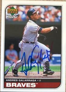 Andres Galarraga Autographed 1998 Upper Deck Retro #6