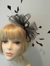 Su Misura!!! Black & White Fascinator con matrimoni, gare. Aliceband