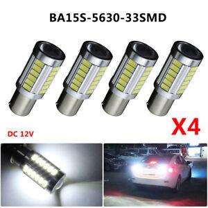 4x HID White 1156 High Power 5630 33 SMD LED Backup Reverse Light Bulbs 6000K