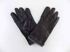 BLOOMINGDALE'S $ MEN Gloves SMARTOUCH INSIDE CASH LEATHER SIZE XL Black  G06