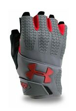 Under Armour Men's Clutch Fit Resistor Training Gloves, Graphite/Red, X-Large,07