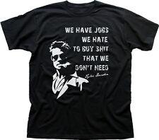 Fight Club Insane Tyler Durden Brad Pitt project mayhem black t-shirt HG9812