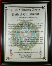 Mc-Nice: Oath of Enlistment Certificate Army Name & Date Personalized
