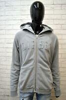 Felpa Cardigan Grigio Uomo DIESEL Taglia XXL Pullover Sweater Man Grey Maglione