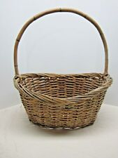 Large Wicker Basket with Bamboo Handle