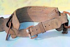 Vintage Leather Construction Carpenter Tool Belt, Adjustable FREE SHIP!