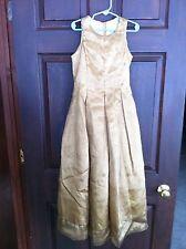 JESSICA McCLINTOCK FLOWER GIRL DRESS, PAGENT, WEDDING PARTY  LONG GOLD 6X