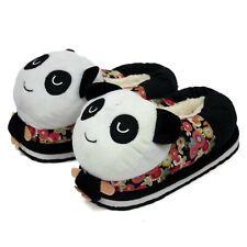 Women Ladies Cute Panda Winter Warm Soft Plush Antiskid Indoor Home Slippers