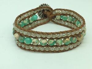 Fashion Women jewelry Blue Stone crystal Armband wrap Bracelets jewelry gift
