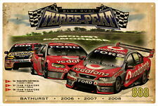LOWNDES/WHINCUP BATHURST '06  '07  '08 VINTAGE TIN SIGN