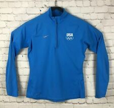 Womens Nike DriFit Teal Pullover Top Size L Large Running USA Olympics