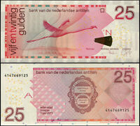 ANTILLAS NEERLANDESAS BILLETE 25 GULDEN. 01.06.2011 LUJO. Cat# P.29f