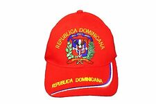 REPUBLICA DOMINICANA Country Flag Embroidered Red HAT CAP ..  NEW